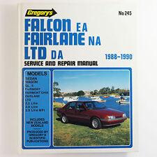 Gregorys Service & Repair Manual, Ford Falcon EA Fairlane NA 1988 - 1990 No. 245