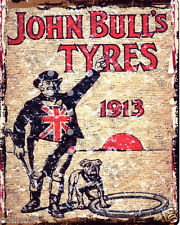 JOHN BULL TYRES GARAGE SIGN VINTAGE STYLE 20x25cm 8x10in pub bar shop cafe