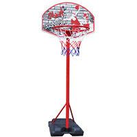 FREE STANDING BASKETBALL NET HOOP BACKBOARD WITH ADJUSTABLE STAND SET