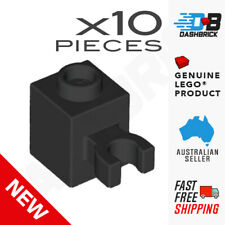 10 x LEGO® - Modified 1 x 1 with Open O Clip (Vertical Grip) - Black 30241b