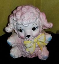 Vintage Relpo Pink Poodle ? Lamb ? Planter. No reserve.