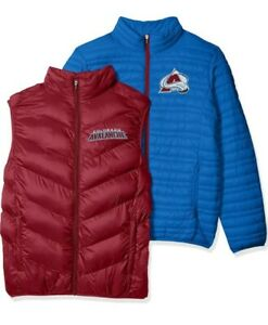 Colorado Avalanche Mens 3 in 1 Systems Jacket Embroidered Logo Blue Maroon Large