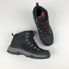 MOSSIMO SUPPLY CO. Snow Boots Mens Size 7 Black Leather Waterproof Hiking EUC