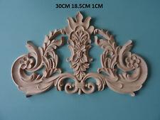 Centro De Desplazamiento Floral de Madera Muebles De Moldeo Decorativo Apliques Onlay C635