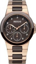 BERING Damen Uhr Keramik 32237-765 Safirglas Ceramic ladies watch Edelstahl rosé