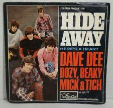 "DAVE DEE DOZY BEAKY MICK & TICH - Hide-Away = 7"" Vinyl Single,Starclub 1966"