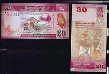 Asie -  Central Bank of SRI LANKA  20 RUPEES  -  2010 - 01 - 01 (Hibou-chouette)