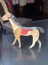 cheval en bois ancien jouet enfant art forain antique french horse