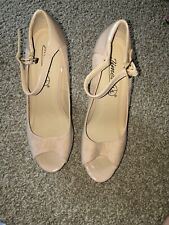 Timeless Cream Wedge Shoes Size 5