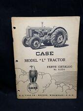 """J. I. Case Model """"L"""" Tractor Parts Catalog A254"""
