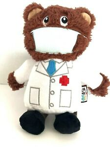 Essential Heroes with Face Mask Doctor Dog Squeaky Toys by Think Dog New NiB