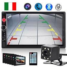 "7"" 2DIN AUTORADIO STEREO MP5 MP3 BLUETOOTH LETTORE FM USB HD 8LED TELECAMERA"