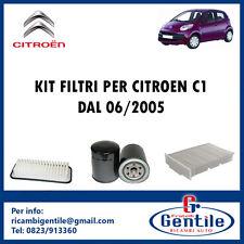 3 KITS FILTROS MANTENIMIENTO PARA CITROEN C1 1.0 50KW 68 CV DE 06/2005 1KR-FE