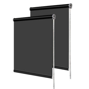Blackout Roller Blinds Trimmable 100% Thermal Blackout Roller Blind Up to 180cm