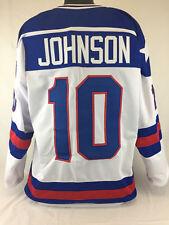 MARK JOHNSON UNSIGNED USA OLYMPIC WHITE JERSEY SIZE XLARGE 1980 MIRACLE ON ICE