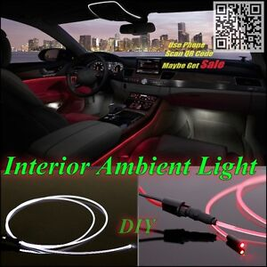 Car Interior Ambient Light illumination / Optic Fiber Band For Chevrolet