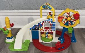1995 VTG Tyco Sesame Street 9429 Amusement Park Roller Coaster Ride Toy w/ Box