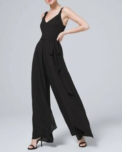 NWT WHBM White house black market slit detail wide leg jumpsuit -size 0P-tag$170