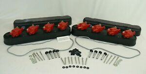 GM LS Finned Black Cast Aluminum Valve Covers with Coil Pack  LS1 - LS7