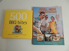 Real Men Do It Outdoors & 500 BBQ Bites Cook books