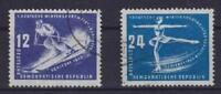 DDR Mi Nr. 246 - 247, gest., Wintersportmeisterschaften 1950, used