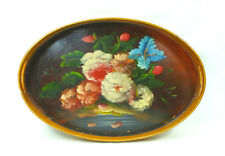 Large Wooden Tray Um 1850 Hand Painted