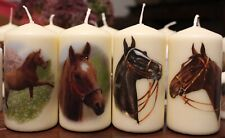 Kerze  Motivkerze  mit  Druck Pferd  Pferde  Horse  4er  SET