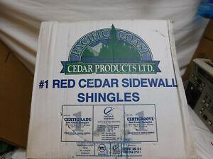 """PACIFIC COAST red cedar 18"""" SMOOTH SIDEWALL shingles no. 1 grade primed grey"""