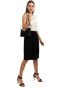 RRP €545 MAX MARA Crepe Skirt Dress Size 46 / L Silk Blend Lining Made in Italy