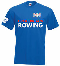 GREAT BRITAIN ROWING T-shirt - M/F - Red or Blue - XS-3XL - Olympics Team GB