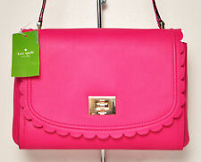 NWT Kate Spade New York Jazmin Maple Court Leather Pink Scallops Crossbody Bag