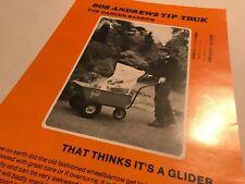 Bob Andrews Tip Truk Wheelbarrow Original 1970s Vintage Sales Brochure
