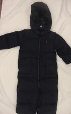 RALPH LAUREN Baby snowsuit DOWN jacket outfit ski winter suit 18 months navy boy