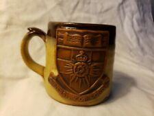 Vintage Pre-owned University Of London Glazed Stoneware Coffee Mug W/ 3D...