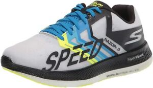 Skechers Unisex Go Run Razor 3 Running Shoe, Black/Green, Men's 9, Women's 10.5
