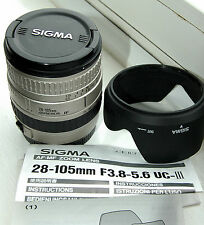 Sigma UC-III 28-105mm f/3.8-5.6 full frame lens for Canon EF cameras