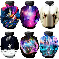 3D Men Winter Hoodies Universe Sky Pattern Sweatshirts Sweater Jacket Coat Tops