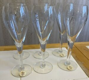SET OF 6 PRINCESS HOUSE HERITAGE TULIP CRYSTAL CHAMPAGNE FLUTES WINE GLASSES 432