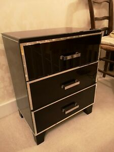 Glass Small Chest Of Drawers