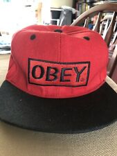 Obey Snapback style sport cap - red / black - one size