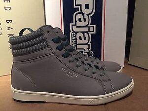 Ted Baker   The Kilbloom Grain  Grey Leather High-Top Sneakers(8 )$ 245