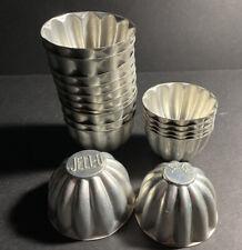 Vintage Lot 17Jello Brand Mini Aluminum Tart Gelatin Molds & Baking Cups JELL-O
