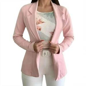 Womens Long Sleeve Business Blazer Suit Office OL Work Formal Jacket Coat New
