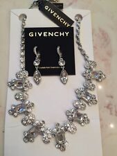 Brand NEW - Givenchy Silver Tone Crystal Collar Necklace and Earrings