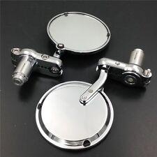For Kawasaki Z1000 Z750 ER-6F ER-6N VN KLX CHROME 7/8''Round Bar End mirror
