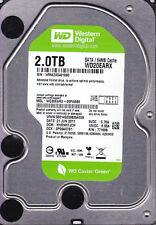 """Western Digital WD20EARX-00PASB0 dcm: HHRNHTJCH 2TB SATA 3.5""""  A16-11"""