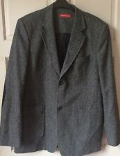 "Tom Tailor Grey Herringbone Jacket, Approx 44"" Chest, Men's Casual"