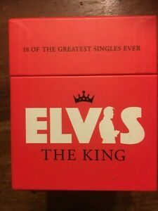 Elvis Presley, The King, LIMITED EDITION box set. 18 great singles, music cds