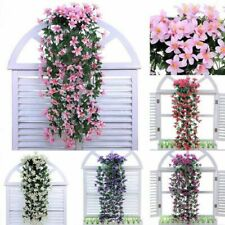 Artificial Lily 5-Branch Silk Flower Garland Ivy Vine Outdoor Indoor Decor PICK