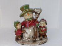 Yankee Candle - Snowman  - Tea Light Candle Holder - Ceramic Figurine